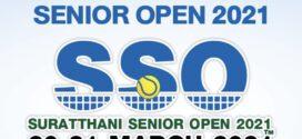 ผลการแข่งขันเทนนิส SURATTHANI SENIOR OPEN 2021 ระหว่างวันที่ 20-21 มีนาคม 2564